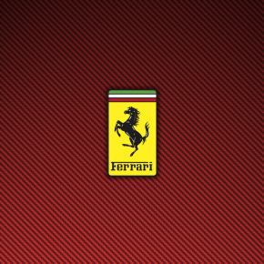Ferrari Logo Red Carbon Fiber Wallpaper 1440×900