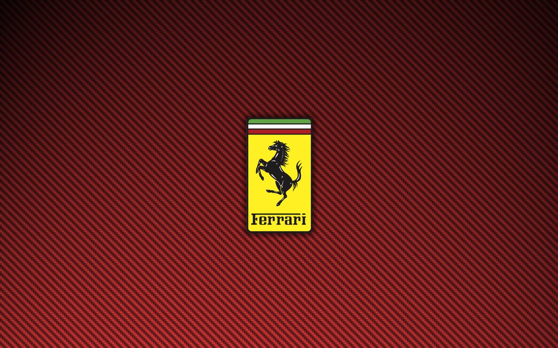 Ferrari Logo Red Carbon Fiber Wallpaper 1440x900