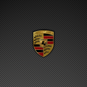 Porsche Badge Logo Carbon Fiber Wallpaper 1440×900